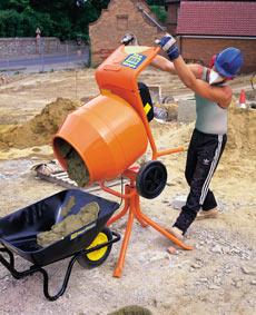 Tip-Up Concrete Mixers - view bigger image